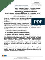 Déclaration ON-111e-Conseil des ministres OEACP