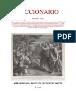 XIII Domingo Después de Pentecostés. Leccionario