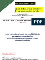 Echodoppler hépatique