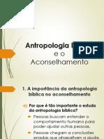 Antropologia Bíblica e o Aconselhamento