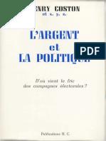 Coston Henry - L Argent Et La Politique