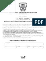 Câmara de Bragança Paulista-SP 2020