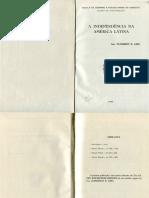 A Independência Na América Latina--1969- Gen. Flamarion B. Lima