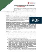 Carta Liberacion de Responsabilidad - COVID19 - Estudiantes UNITEC Julio 2021 Q3