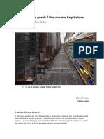 Arquitetura Do Porvir . Ru e Fu. Agosto de 2014