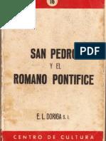 San Pedro y el Romano Pontífice