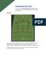Football Manager 2011 Tactics