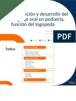 Adquisición y Desarrollo Del Lenguaje Oral en Pediatría, Función Del Logopeda