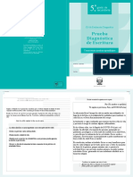 Prueba Diagnóstica de Escritura - 5to de Secundaria - 2021