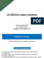 Clase 9 Célula y tipos celulares