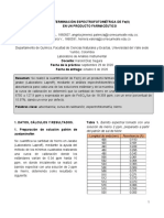 DETERMINACIÓN ESPECTROFOTOMETRICA DE ADFF