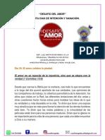 DIA 34. EL DESAFIO DEL AMOR.