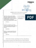Castellanos vs. State of California Writ of Mandate Granted