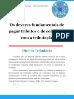 Os Deveres Fundamentais de Pagar Tributos e de Colaborar Com a Tributação