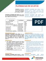PDS Fastron Platinum SAE 0W-40 API SN