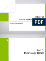 Technology 101 and Health Information Technology (HIT)