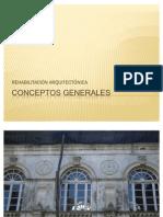 CONCEPTOS GENERALES REHABILITACIÓN ARQUITECTÓNICA