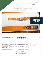 ESCOLA DE CRESCIMENTO