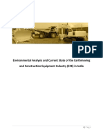 Environmental Analysis and Current State of the Earth Moving and Construction Equipment Industry