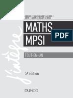 Mathématiques MPSI Tout-En-un - 4e Édition by Claude Deschamps, François Moulin, André Warusfel, Nathalie Cleirec, Jack Michel Cornil, Yoann Gentric, François Lussier,