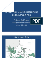 Thayer China's Rise, US re-engagement in Southeast Asia
