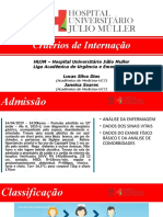 LAMUECC - Critérios de internação
