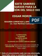 presentación de LOS SIETE SABERES NECESARIOS PARA LA EDUCACI