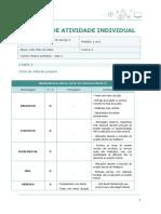 2- Matriz de atividade individual