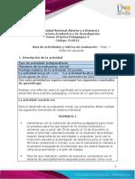 Guía de Actividades y Rúbrica de Evaluación - Paso 1 - Reflexión Personal