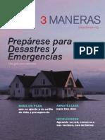 3 DÍAS,3 MANERAS PREPÁRESE PARA EMERGENCIAS Y DESASTRES