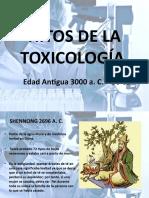 HITOS DE LA TOXICOLOGÍA