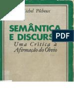 3. PECHEUX. Semântica e Discurso