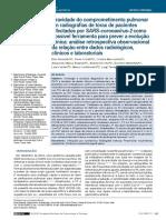 Gravidade do comprometimento pulmonar em radiografias de tórax de pacientes -2020