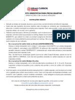 PCAL Agente e Escrivao 3 Simulado Folha de Respostas