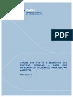 FGVces - AIR, Instrumentos Econômicos e Recursos Hídricos [2018]