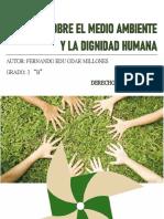 Ensayo Sobre La Dignidad Humana en Relación a Los Valores Ambientales y El Medio Ambiente