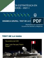 Dinámica - Test de la Nasa - 2021-I