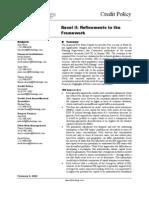 Basel II Refinements to the Framework