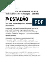 USP 2024 - Estadao 16.03.2016