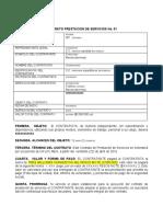 MODELO CONTRATO PRESTACION DE SERVICIOS No