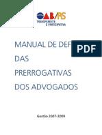 Manual Defesa Prerrogativas Advogados