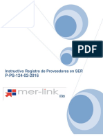 P-ps-124!02!2016 Instructivo de Registro de Usuario Proveedor en Ser