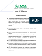 LISTA DE EXERCICIOS - 6 PERÍODO