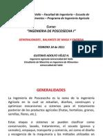 GENERALIDADES Y BALANCES DE MASA Y ENERGIA