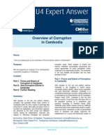 Overview of Corruption in Cambodia