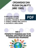 Tugasan 1 - Teori Organisasi & Pengurusan Dalam PTV