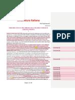 Appunti Di Letteratura Italiana