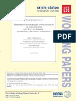 Fondements Economiques Et Politiques de