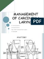 management of ca larynx
