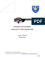 42 D Cours Optique de Fourier Et Formation Des Images